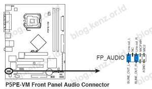 Front Panel Audio Connector P5PE-VM