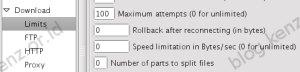 WebDownloader Limit Speed