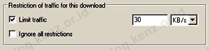 Free Download Manager Limit Traffic