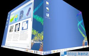 Mandriva 2008 - Compiz 3D Desktop