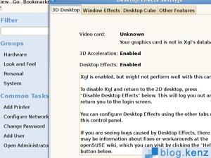 Install 3D Desktop di OpenSuse