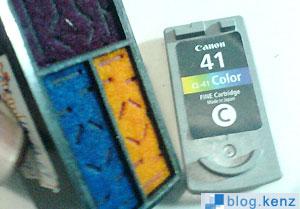 Penampang Dalam Cartridge CL41