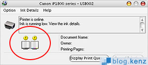 Status Tinta Printer Canon IP1880