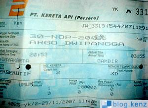 Tiket Argo Dwipangga