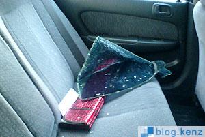 Pecahan Kaca Pada Mobil Korban Kedua